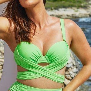 Other - Gabifresh Kiwi Wrap Underwire Bikini Top